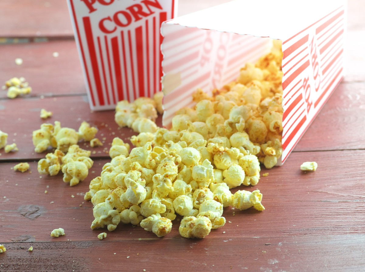 Cheesy Barbecued Popcorn