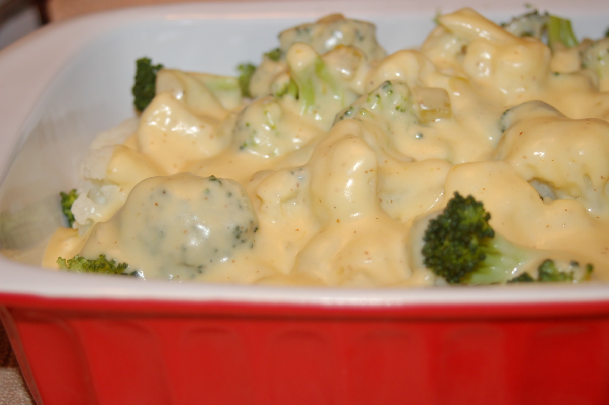 Cheesy Broccoli and Cauliflower_image