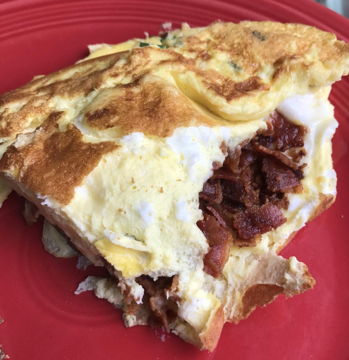 Flaeskeaeggekage (Danish Bacon & Egg Pancake/Omelet) image