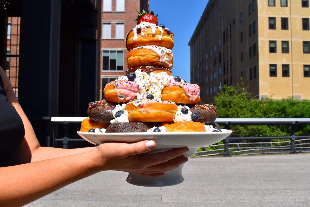 Donut Birthday Cake image