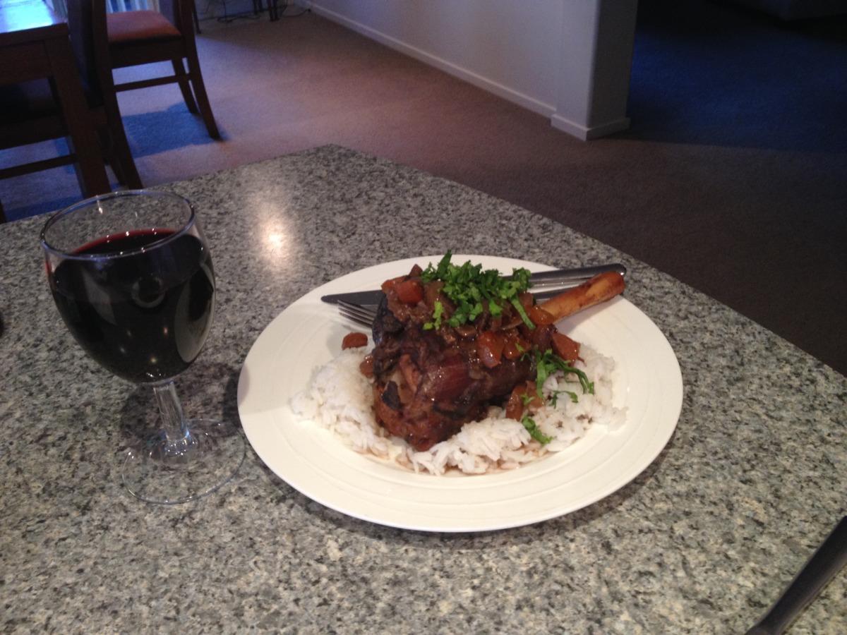 Braised Lamb Shanks With Garlic and Rosemary (Crock Pot) image