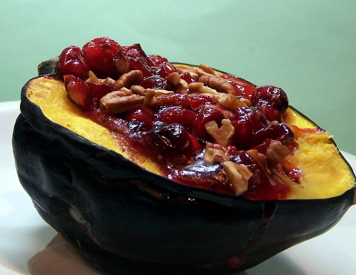 Cranberry Stuffed Acorn Squash image