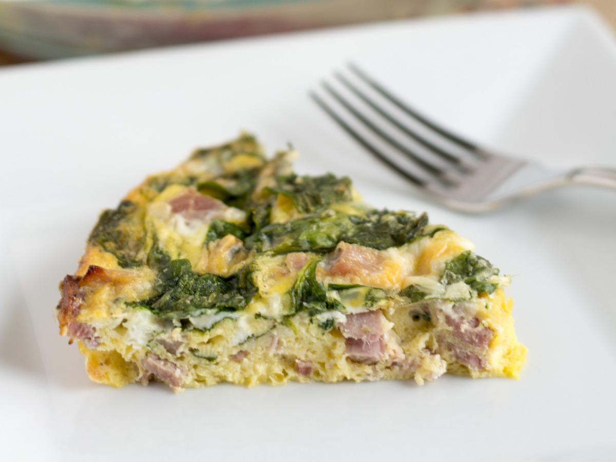Crustless Ham and Cheese Quiche image