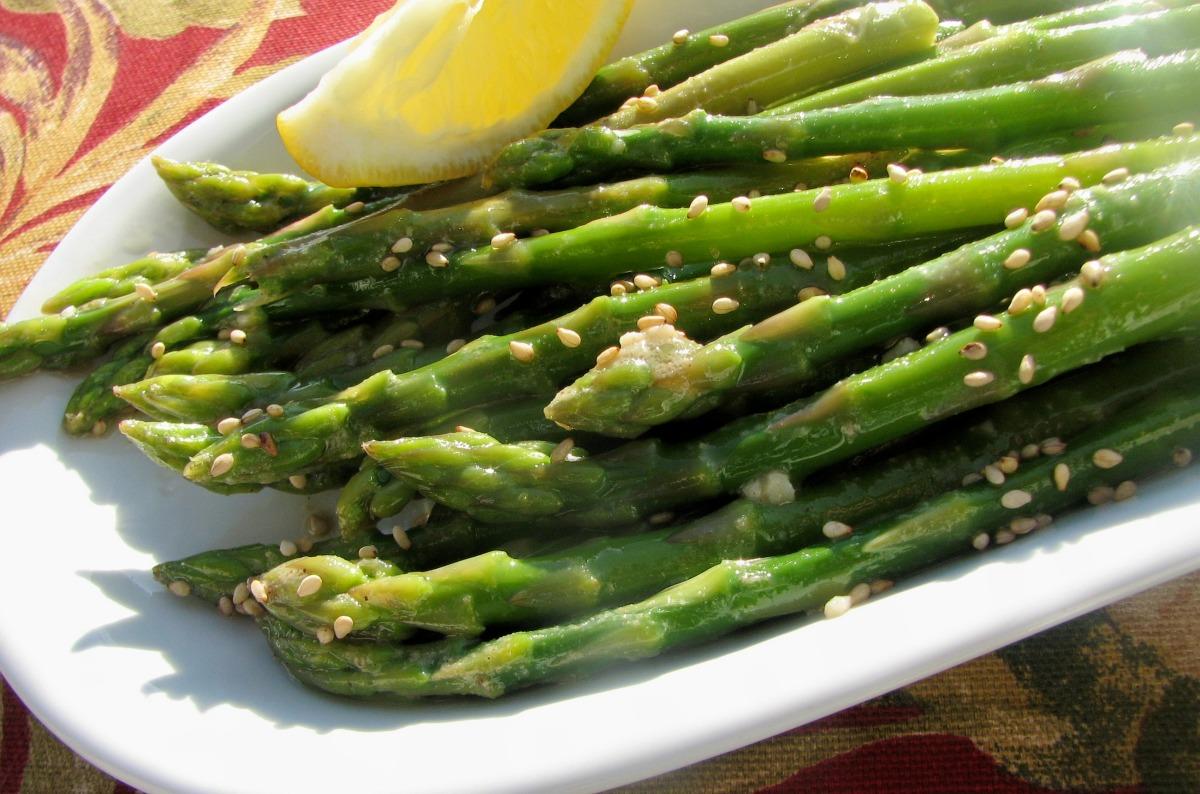 Asparagus With Sesame Oil Vinaigrette image
