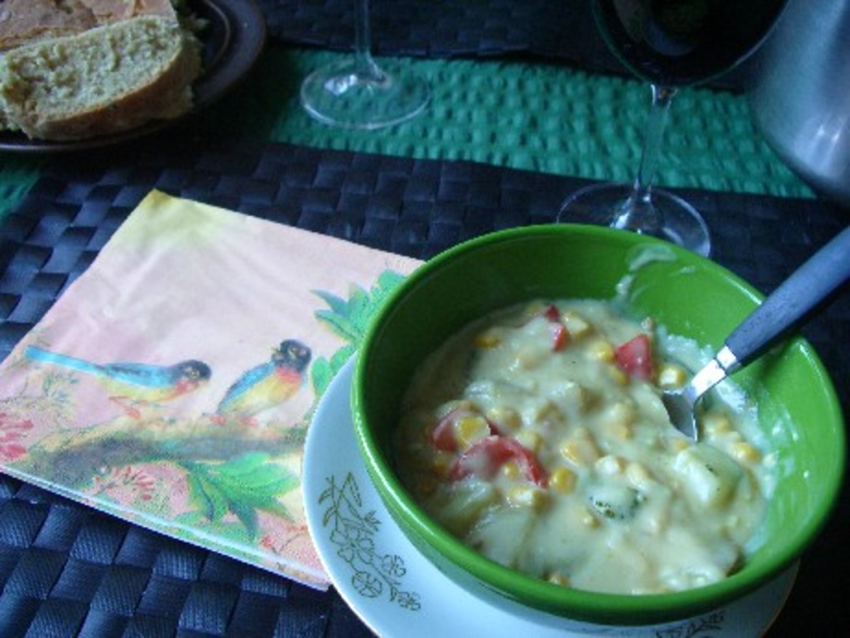 Vegan Corn & Vegetable Chowder image