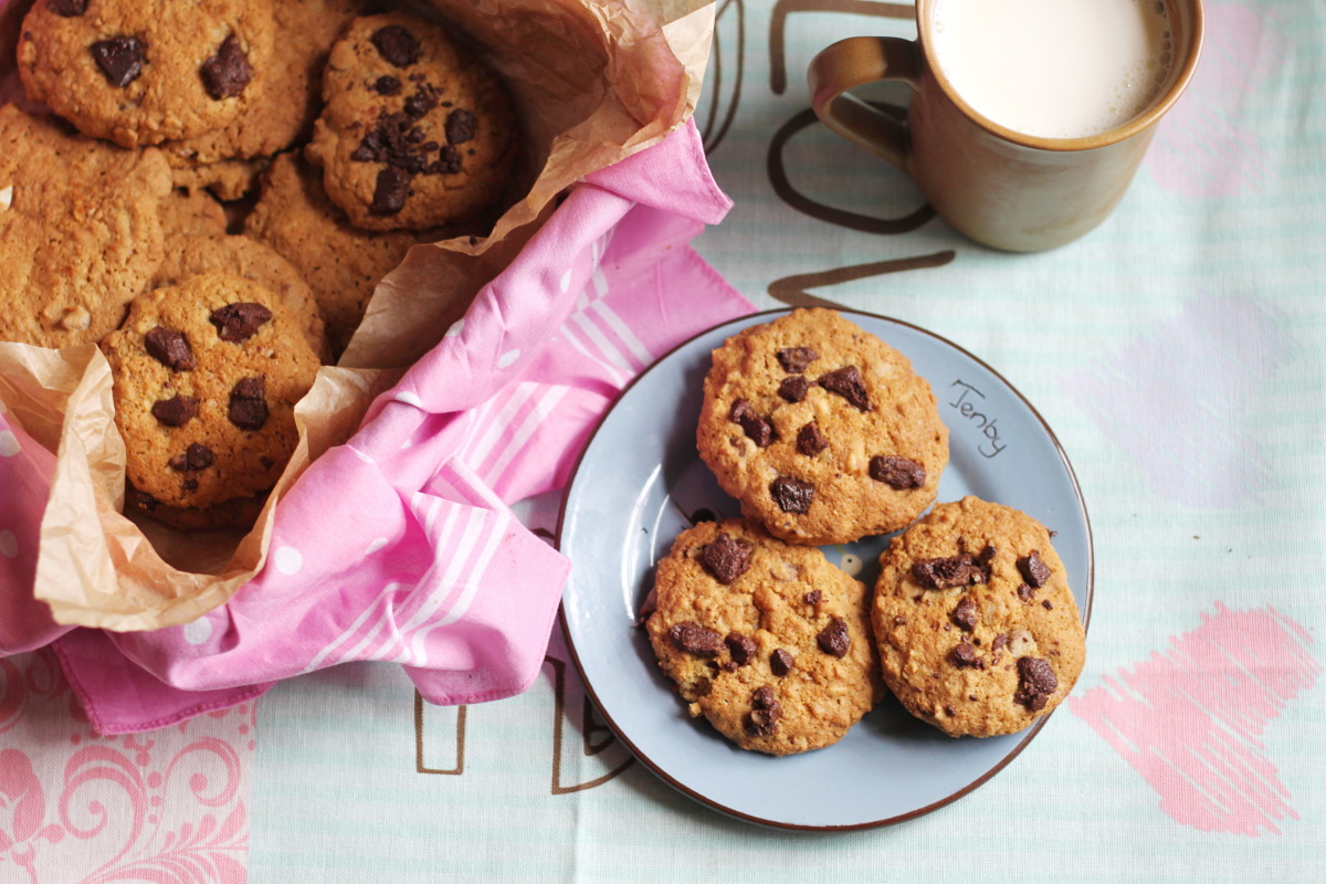 Chewy Chocolate Chip Oatmeal Cookies image