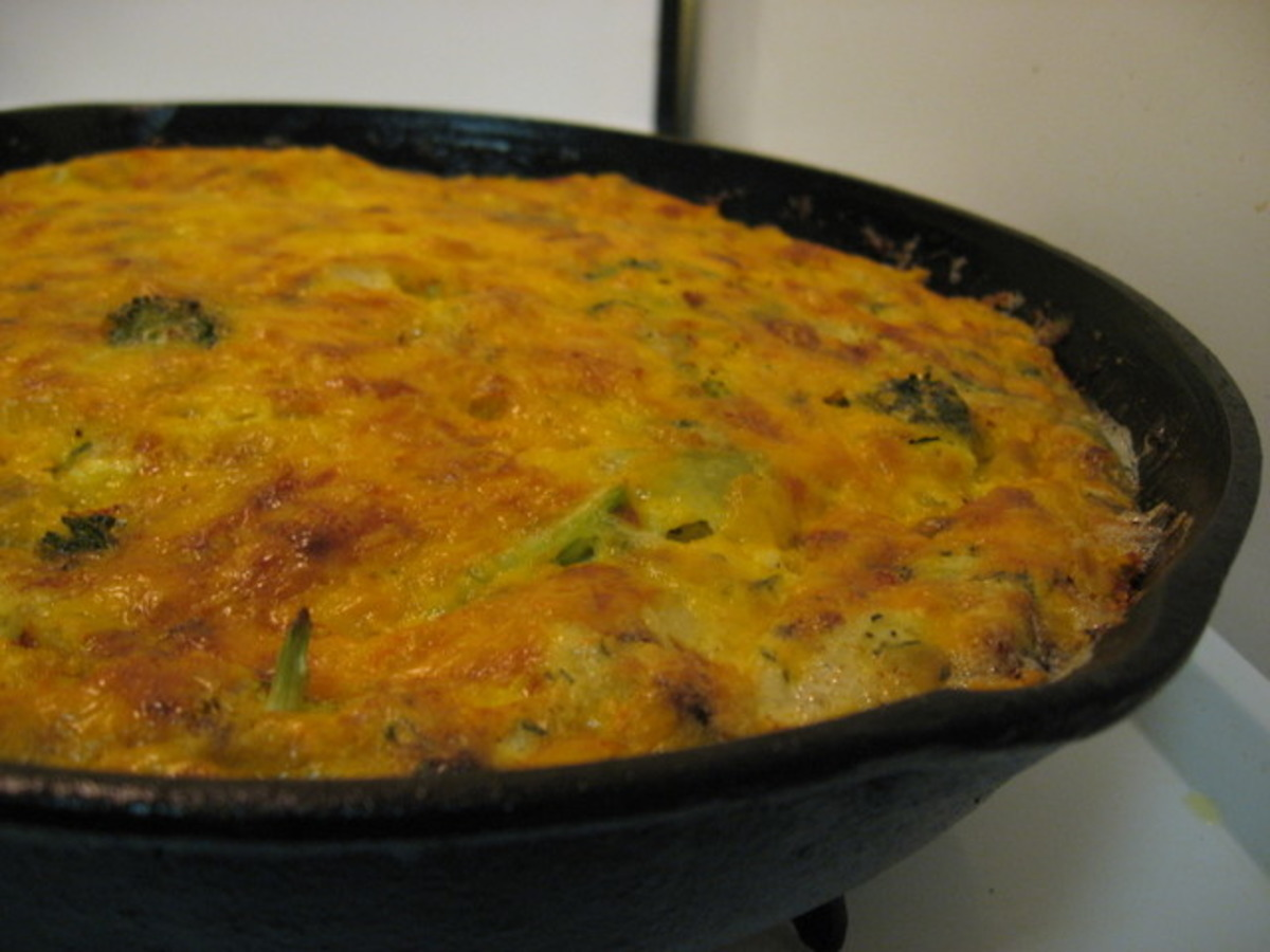 Artichoke and Broccoli Frittata / Crustless Quiche image