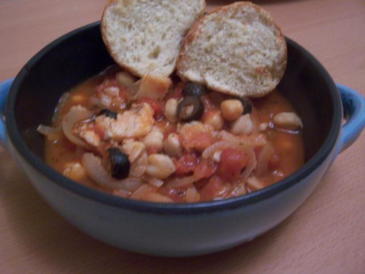 Cod, Chickpea & Olive Stew image