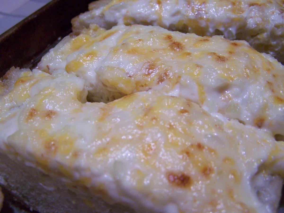 Garlic Bread with Mayo & Cheddar image