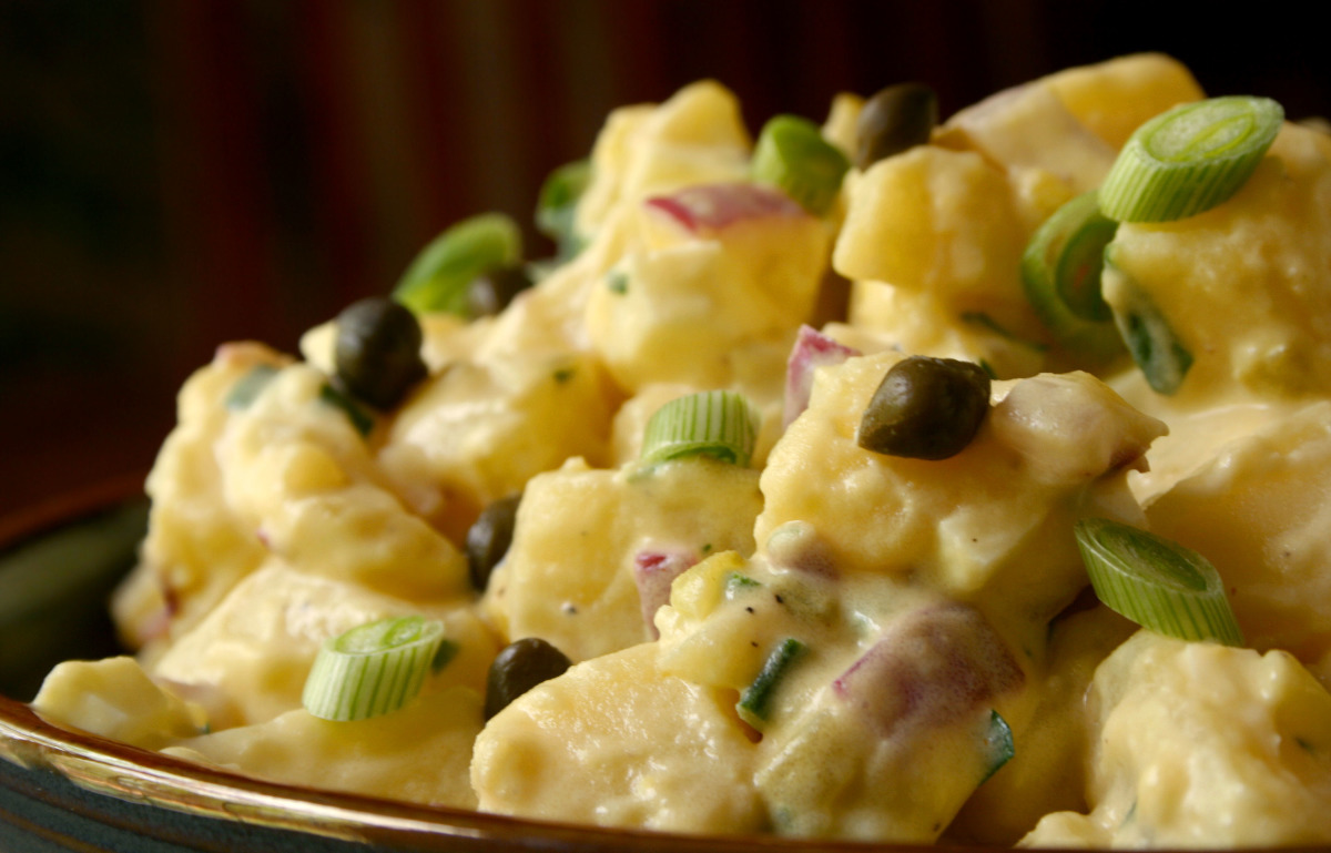 Tolan S Mom S Potato Salad Tyler Florence Recipe Food Com