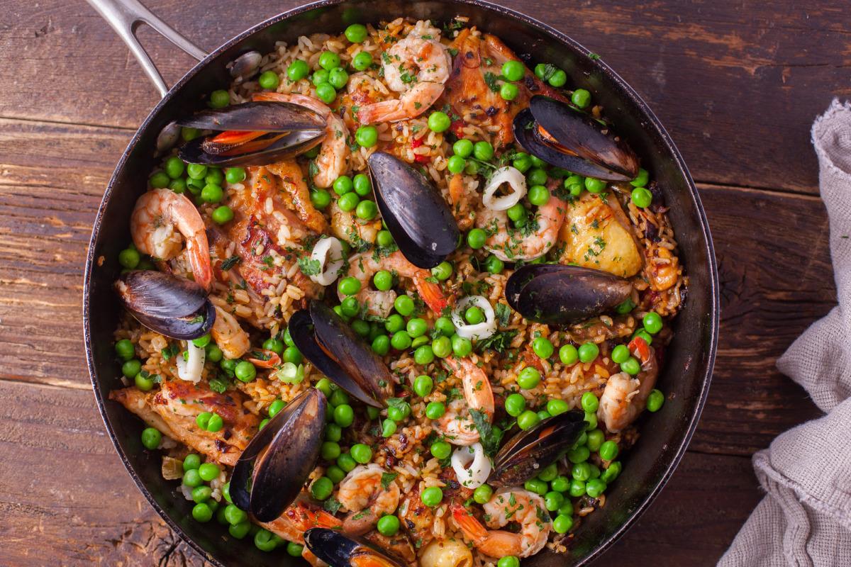 Spanish Seafood Paella image