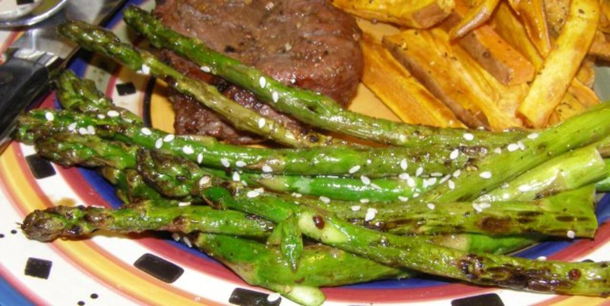 Grilled Sesame Asparagus image