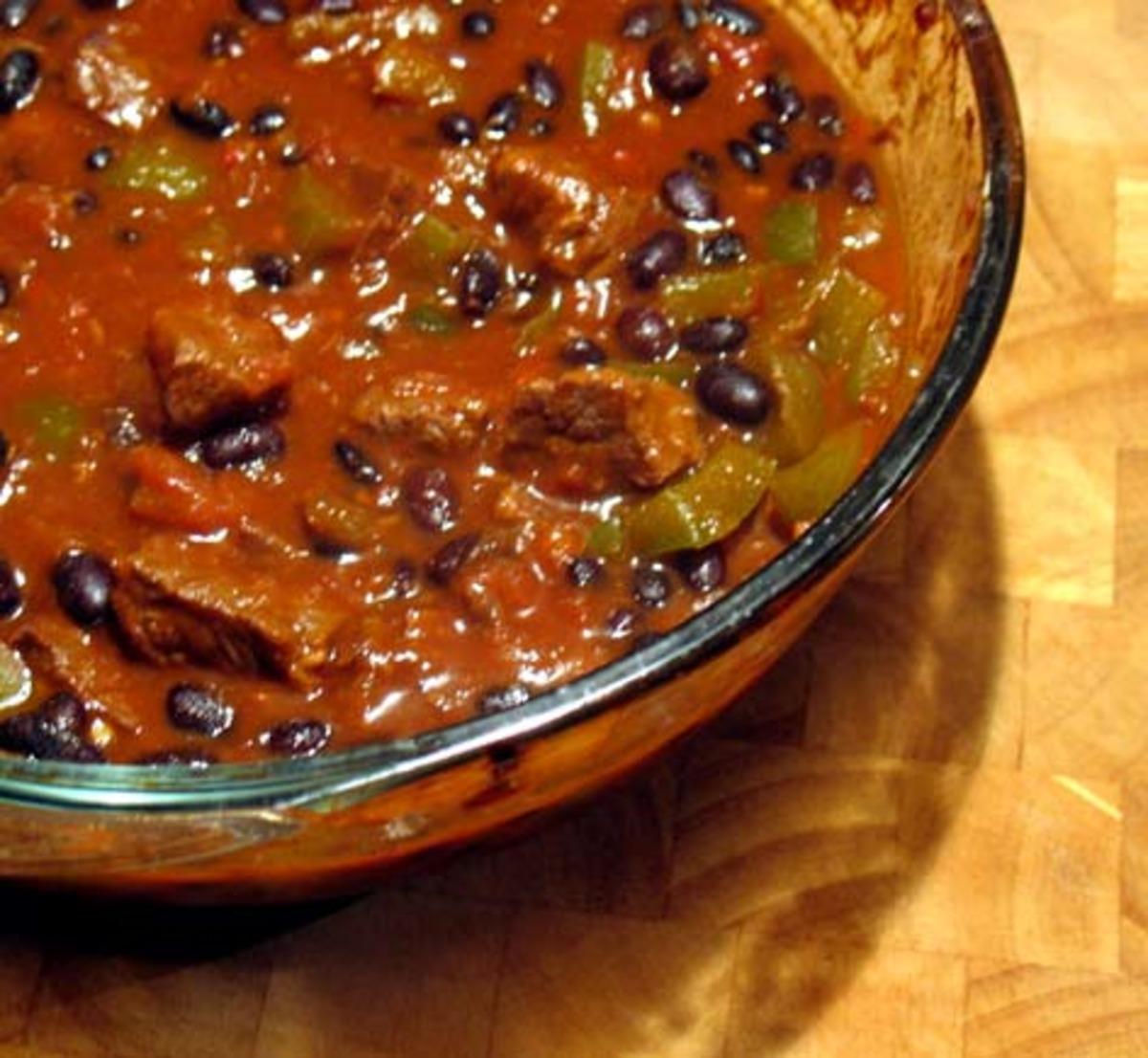 black bean chili recept