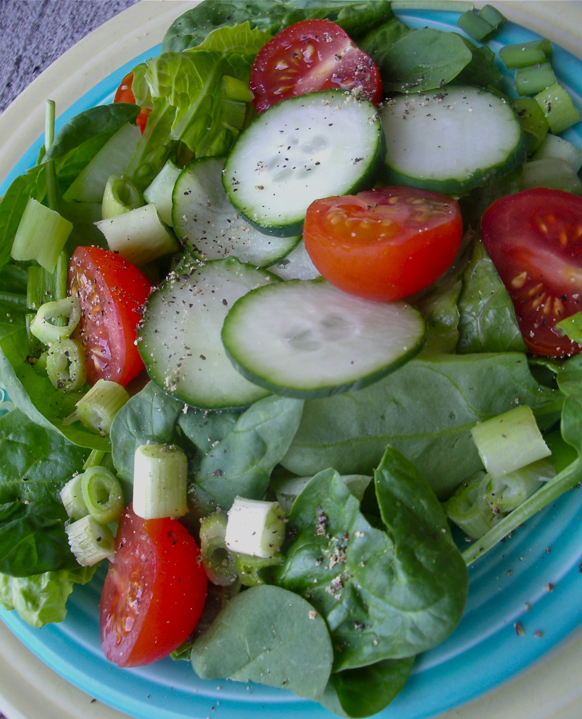 Simple Healthy Summer Salad, Green and Tossed image