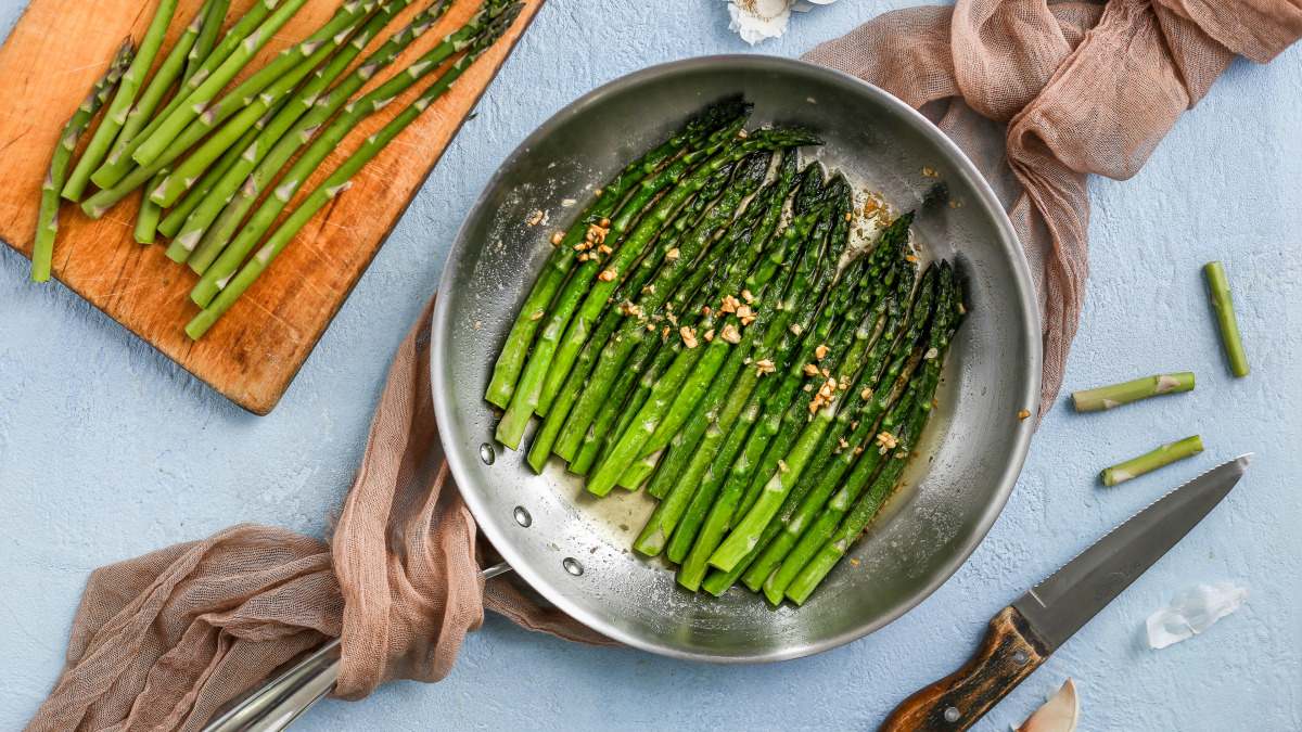 Pan Fried Asparagus Recipe Food Com