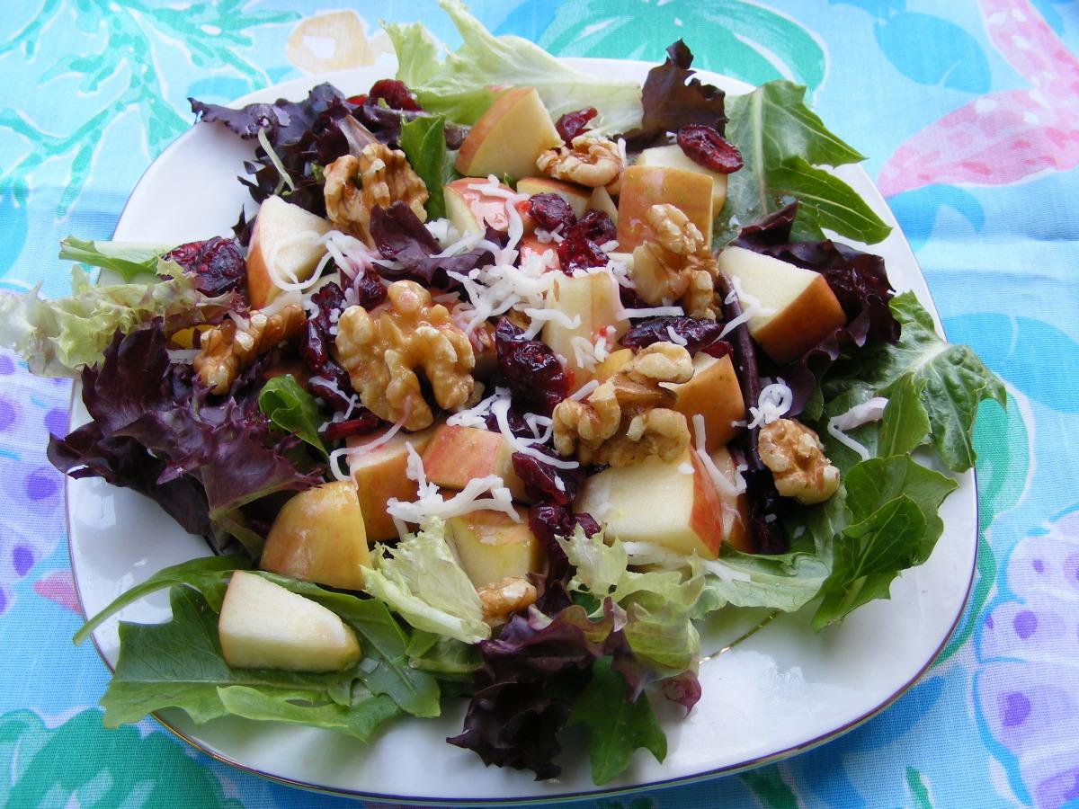 Greens, Apple and Walnut Salad image