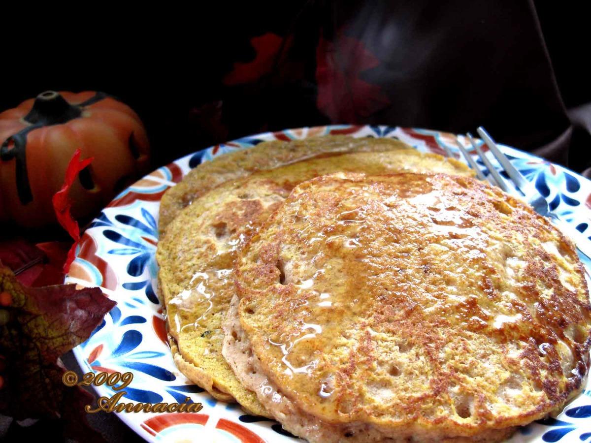Healthy Pumpkin Spice Pancakes image