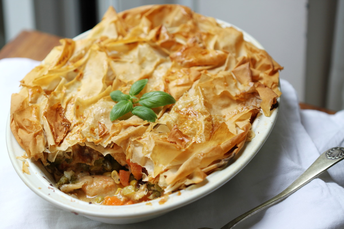 Lower Fat Chicken Pot Pie With Phyllo