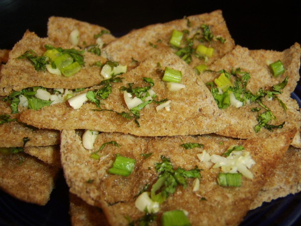 Garlic-Herb Pita Toasts image