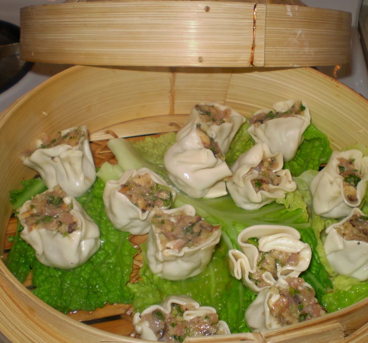 Chicken and Green Onion Dumplings W/ Balsamic Soy Dipping Sauce image