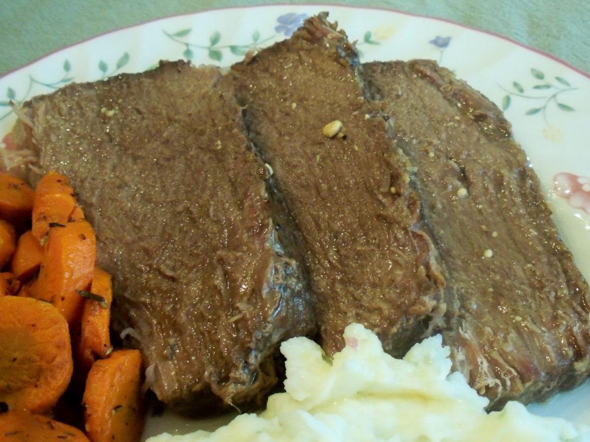 V S Crock Pot Bottom Round Roast Recipe Food Com