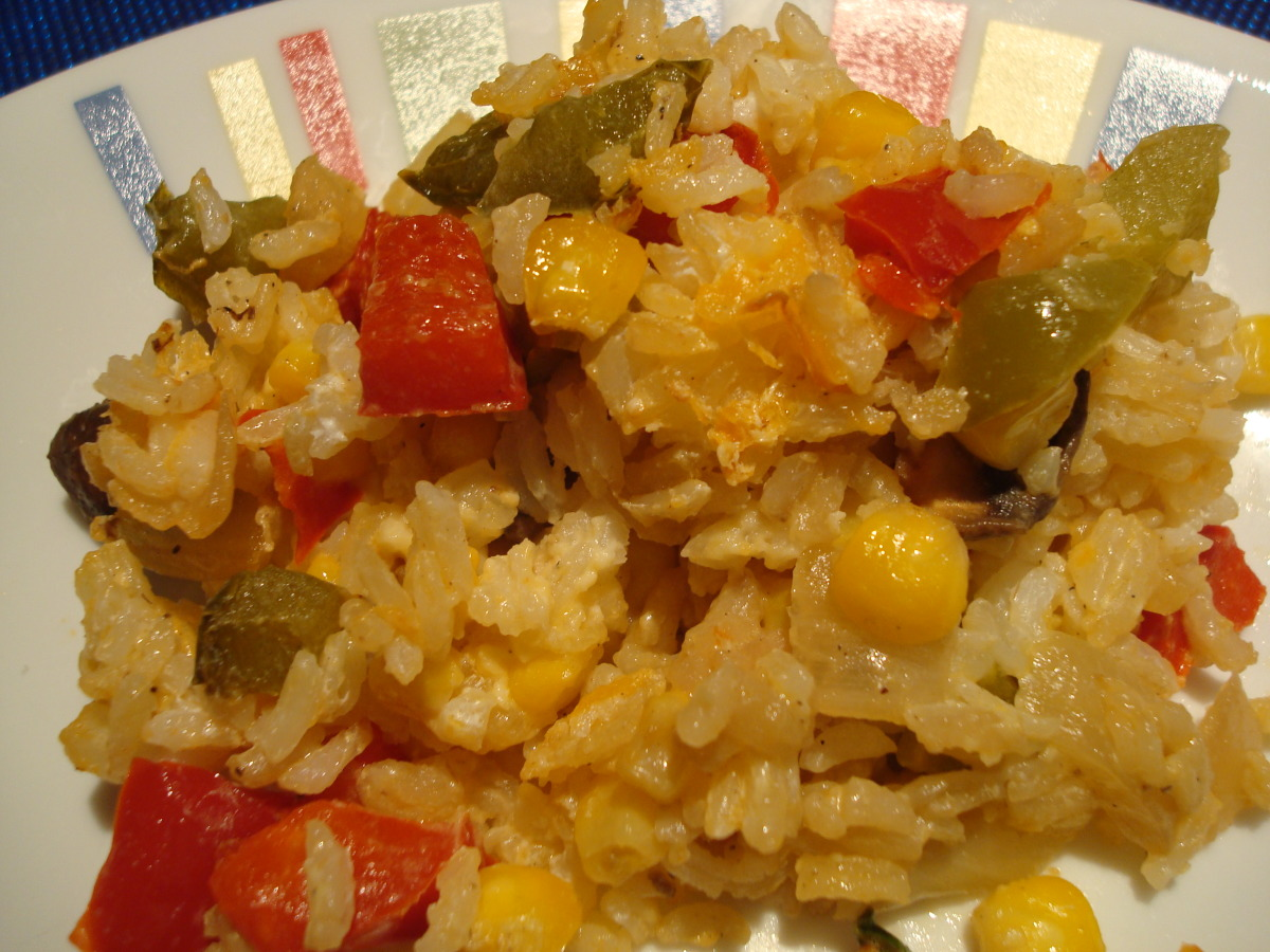 Baked Corn and Rice Casserole image