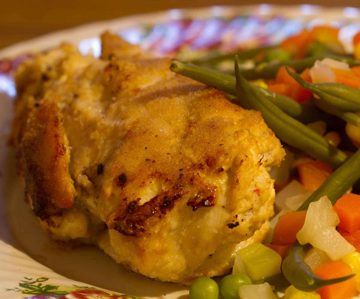 Crab Stuffed, Crumbed, Chicken image
