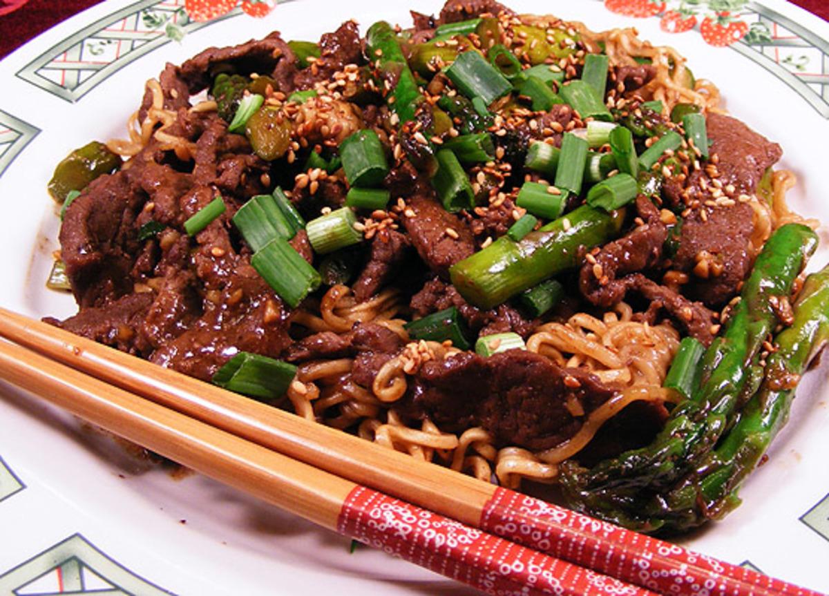 Sesame Beef and Asparagus Stir Fry image
