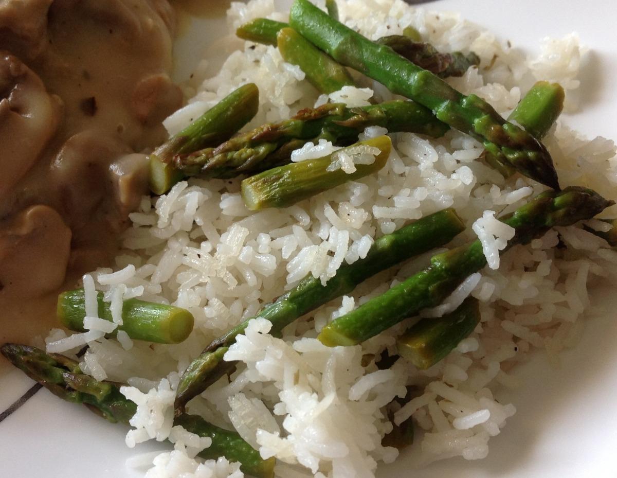 Asparagus Pilaf Rice image