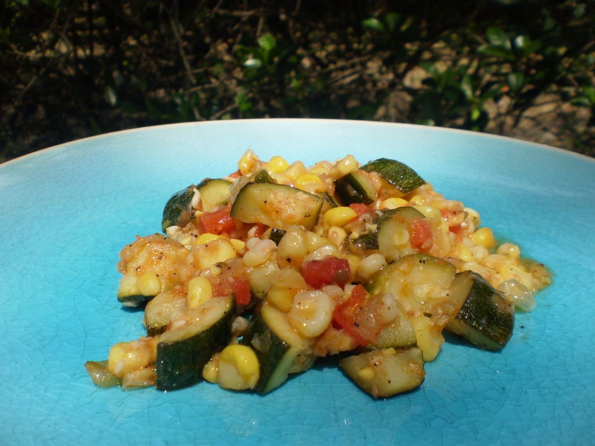 Corn and Zucchini Saute image