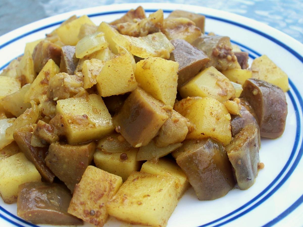 Eggplant and Potato (Indian) image