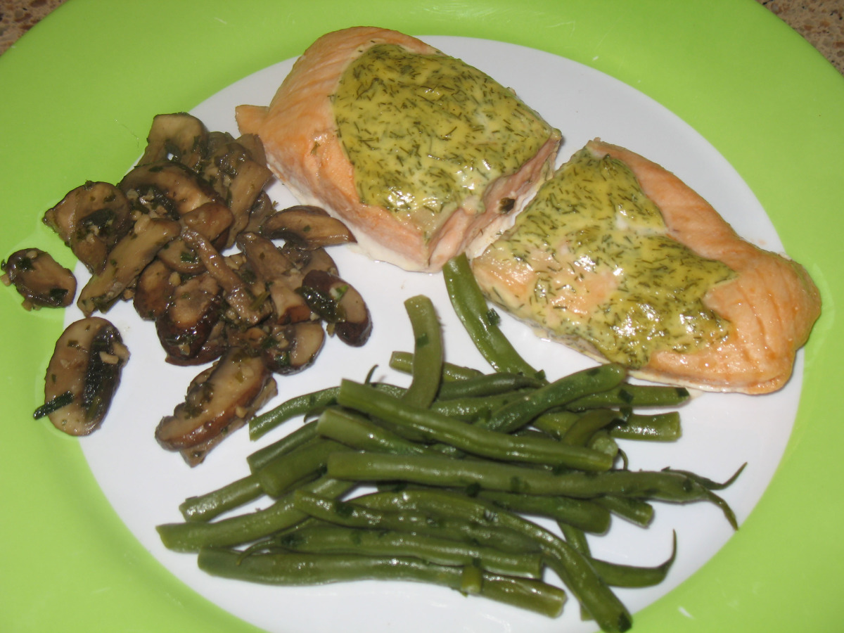 Baked Salmon With Dill Mustard Sauce image