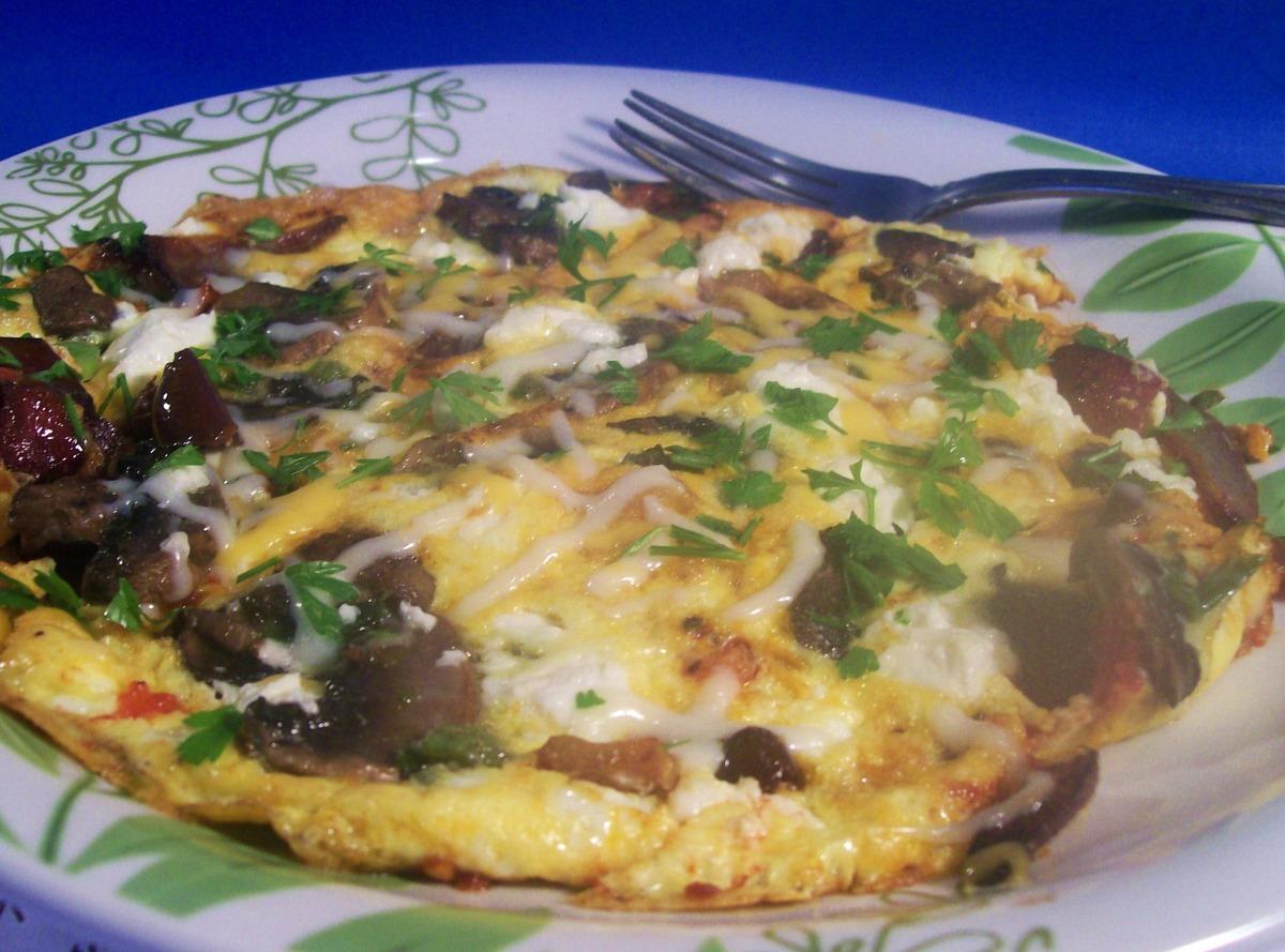 Greek Salad Omelette image
