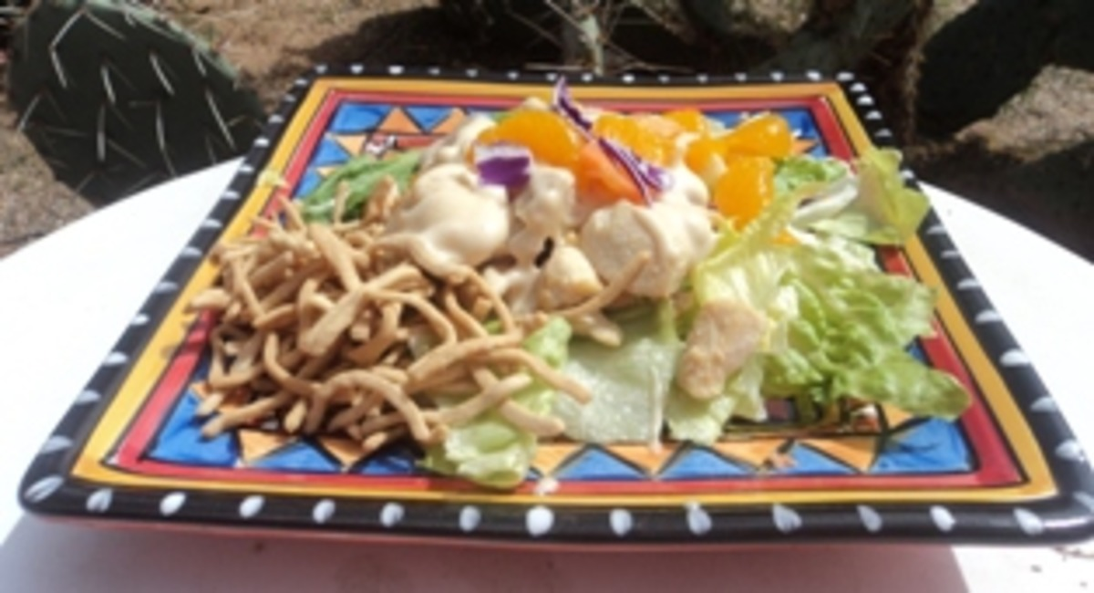 Low Fat Mandarin Chicken Salad_image