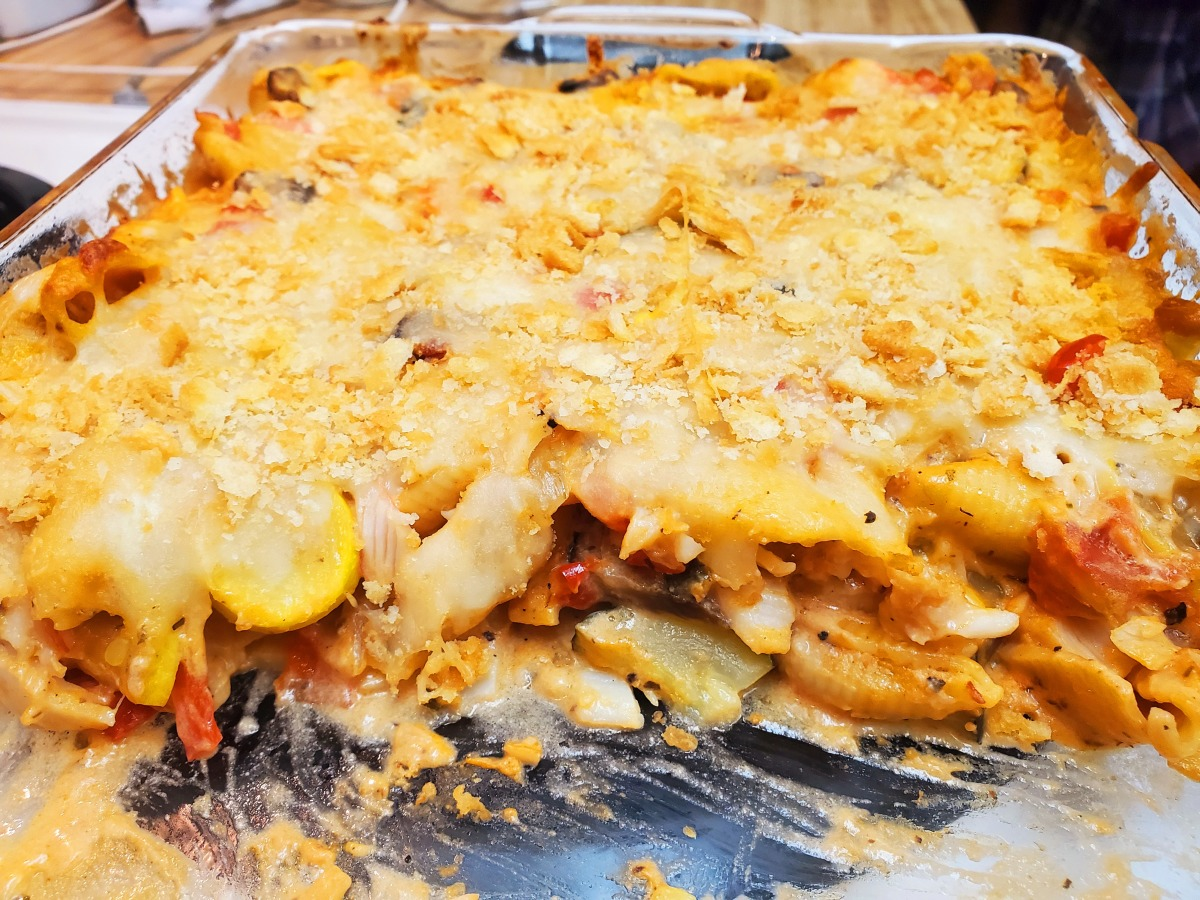 Imitation Crab And Pasta Alfredo Bake Recipe Food Com