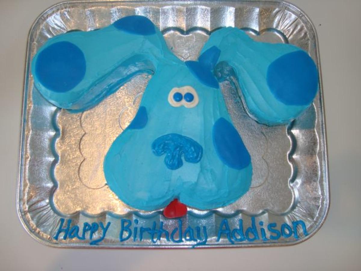 Astonishing Blues Clues Kids Cake Recipe Food Com Personalised Birthday Cards Fashionlily Jamesorg