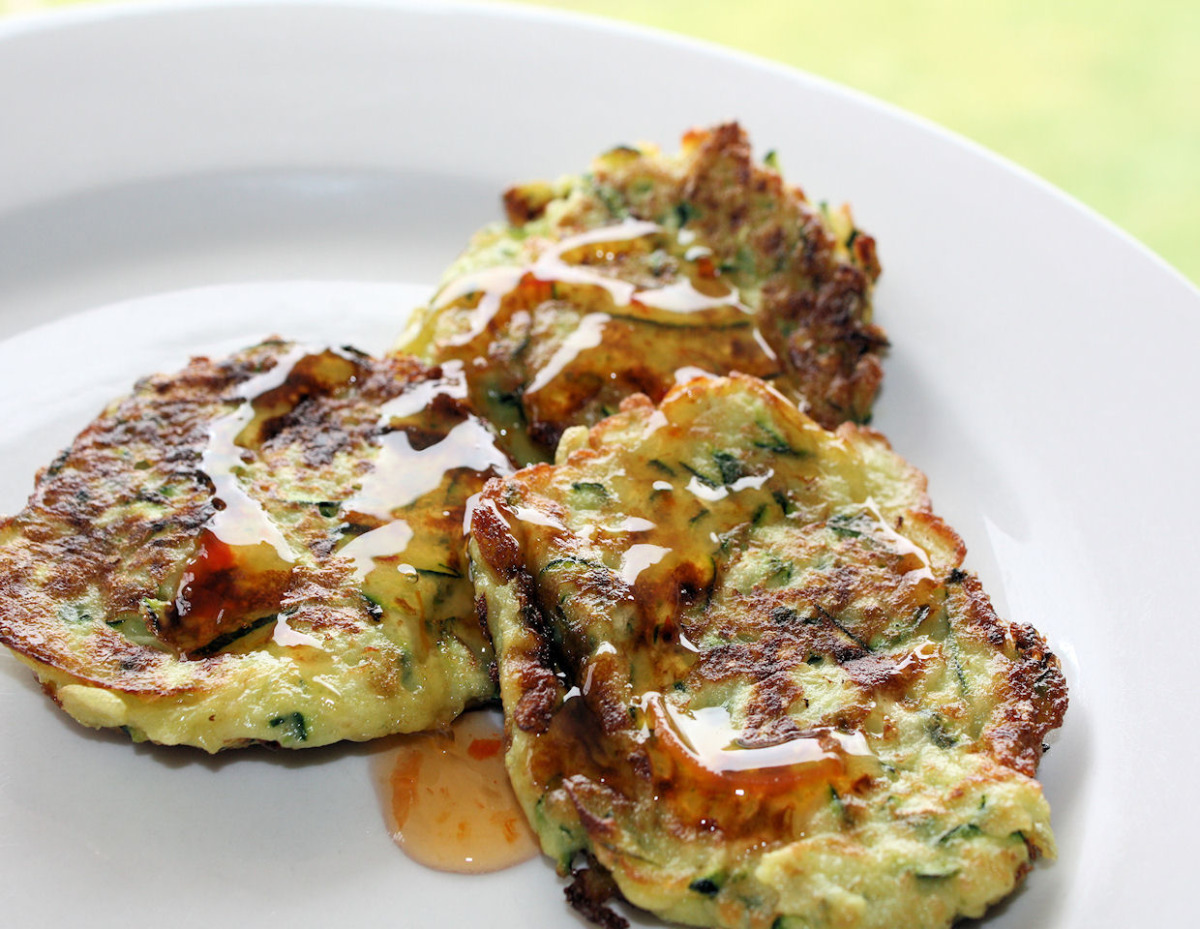 Courgette Fritters image