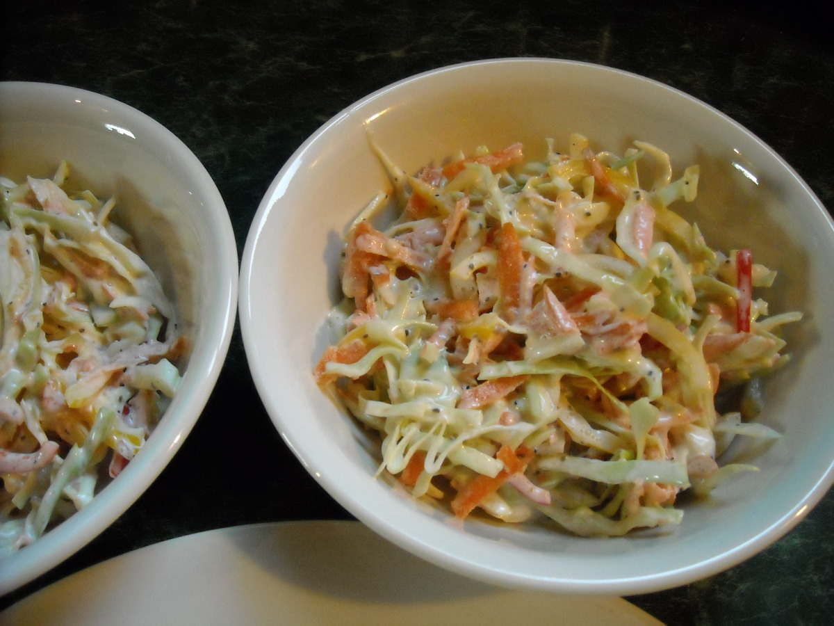 Creamy Coleslaw With Bell Peppers & Red Onion image