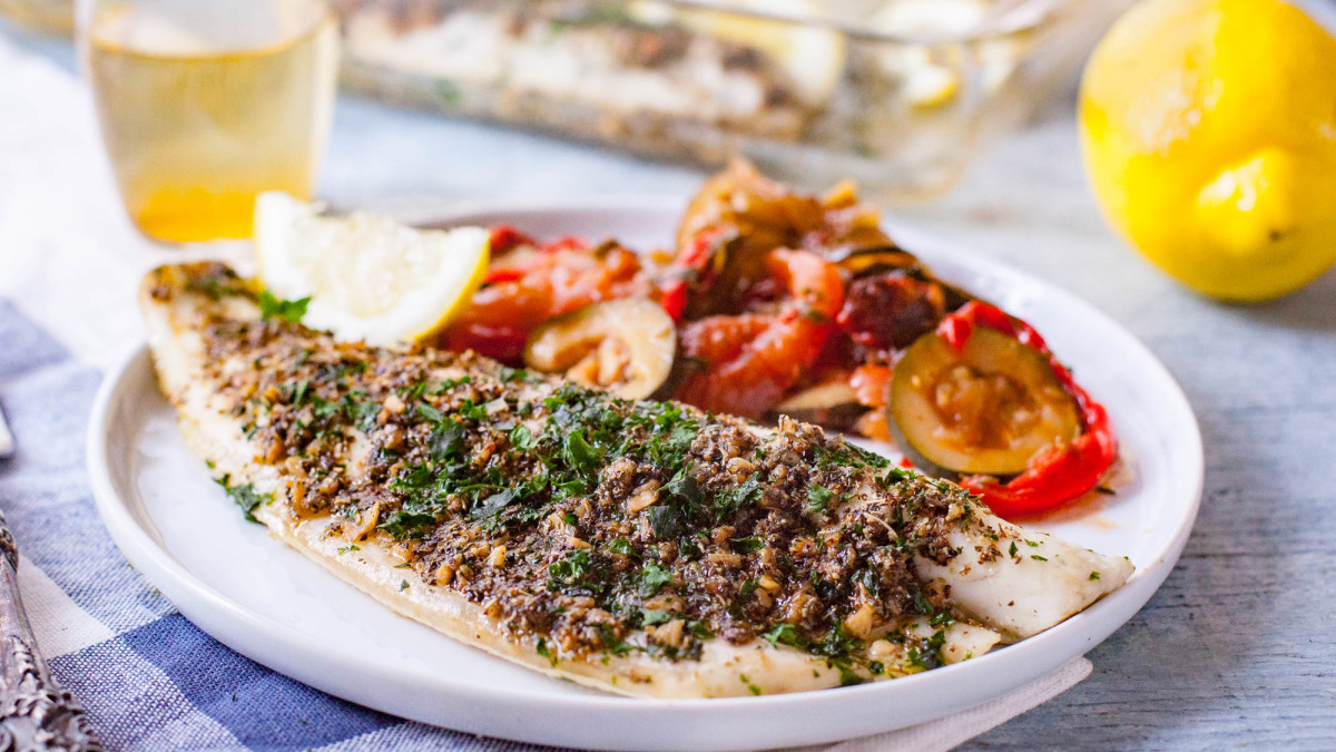 Simple Oven-Baked Sea Bass_image