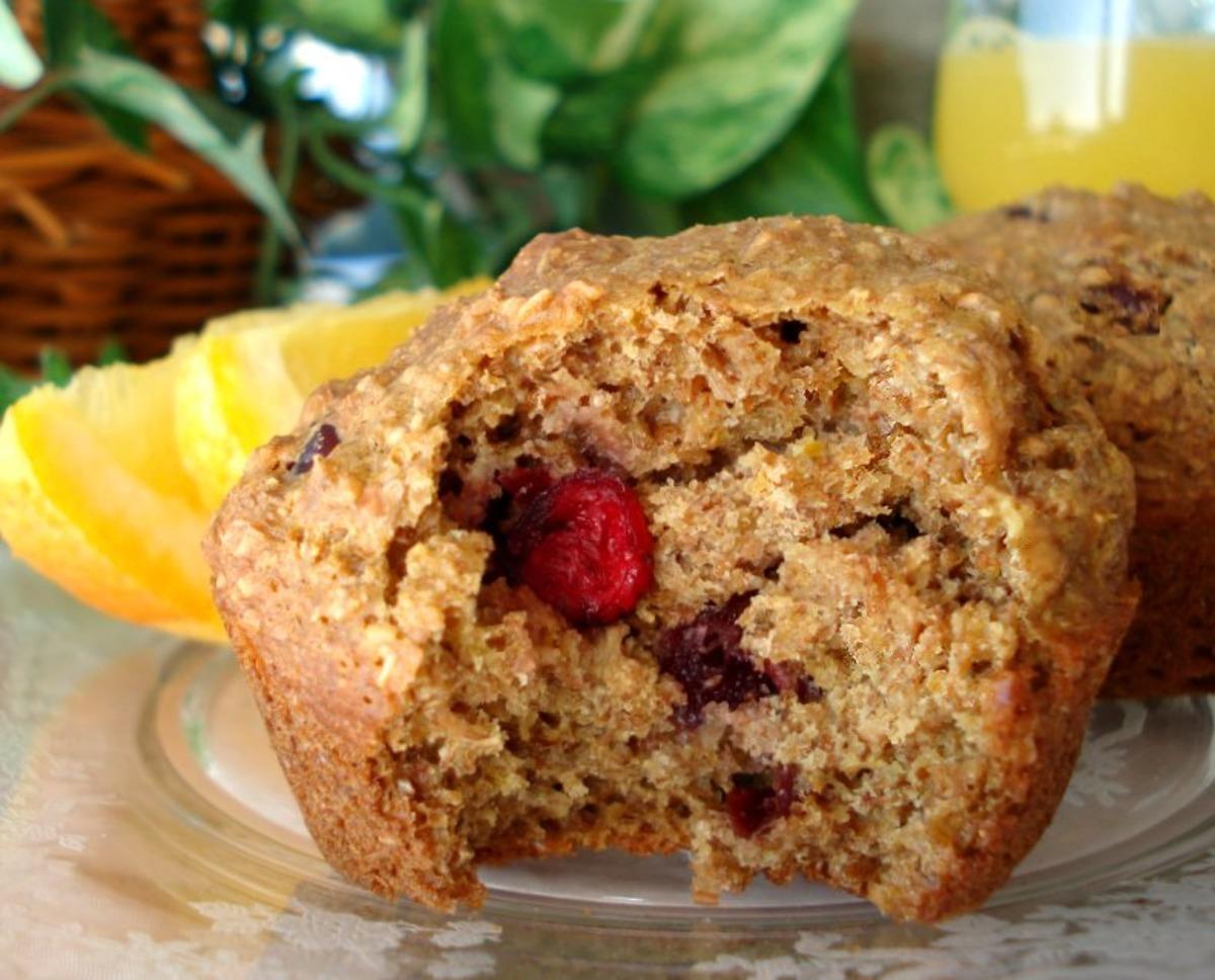 Cranberry Orange Bran Muffins image