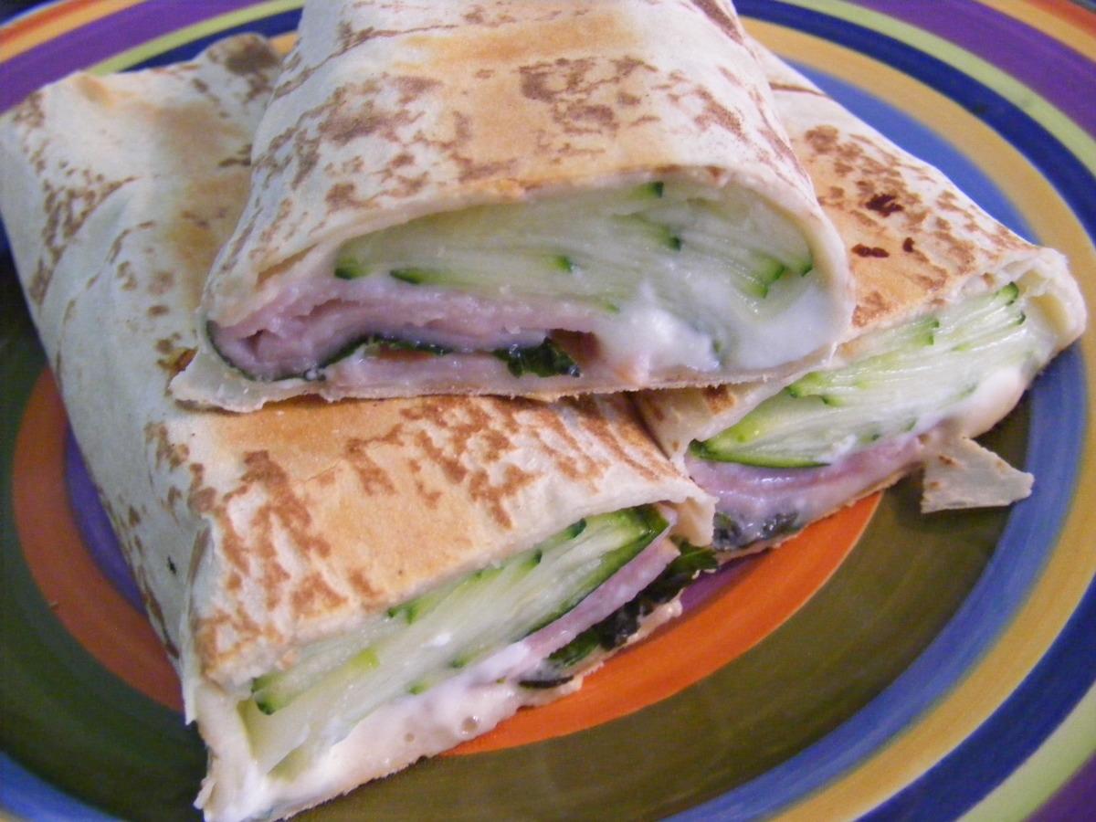 Ricotta, Basil & Ham Wrap (21 Day Wonder Diet: Day 5) image
