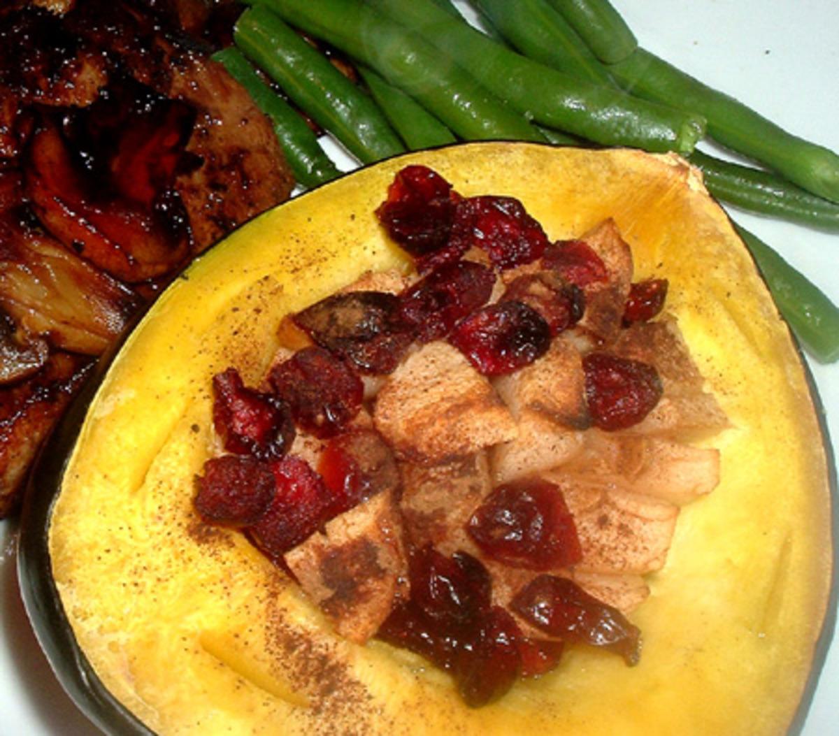 Baked Cranberry Acorn Squash image