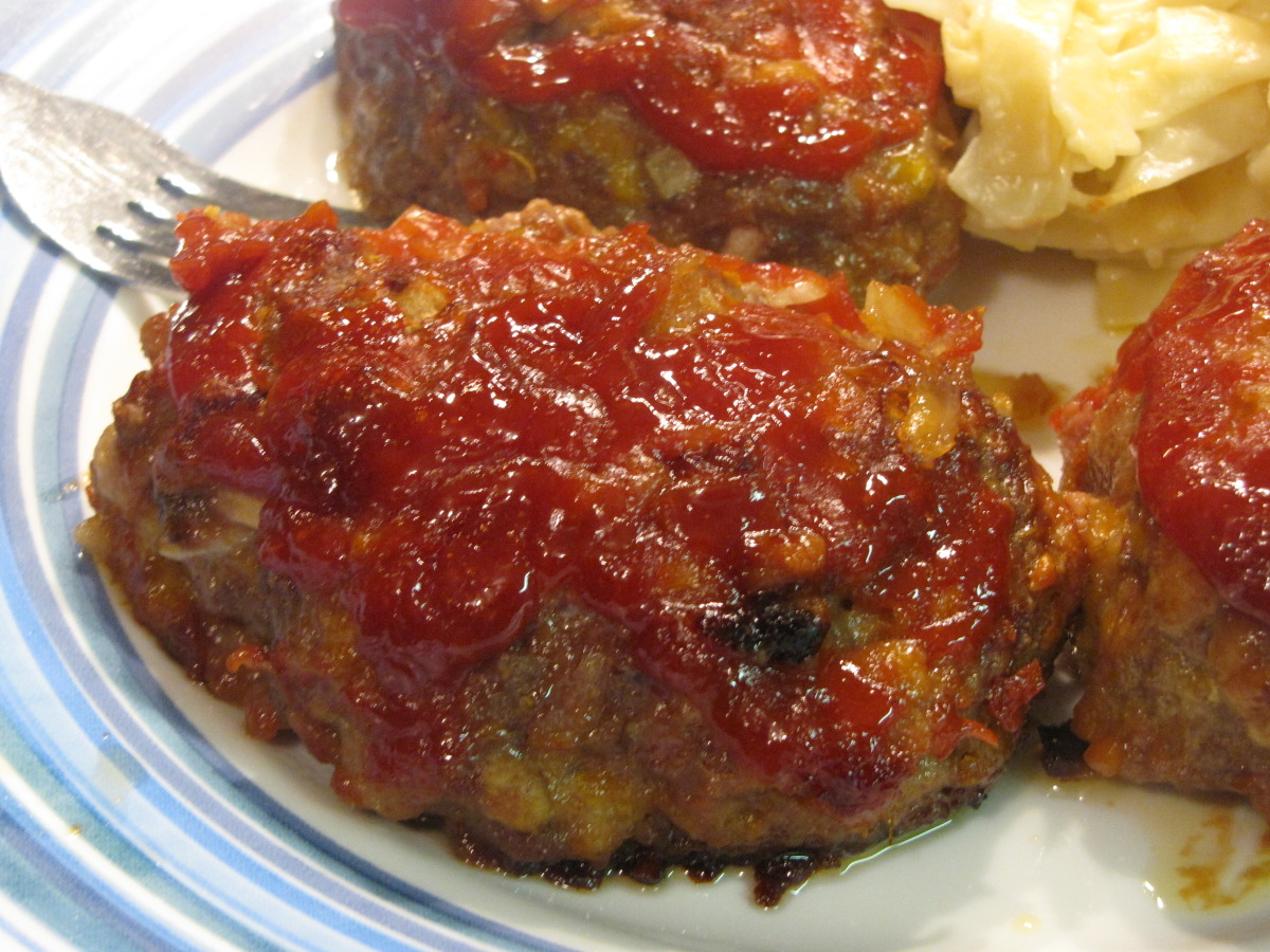 Cheesy Mini-Meatloaves image
