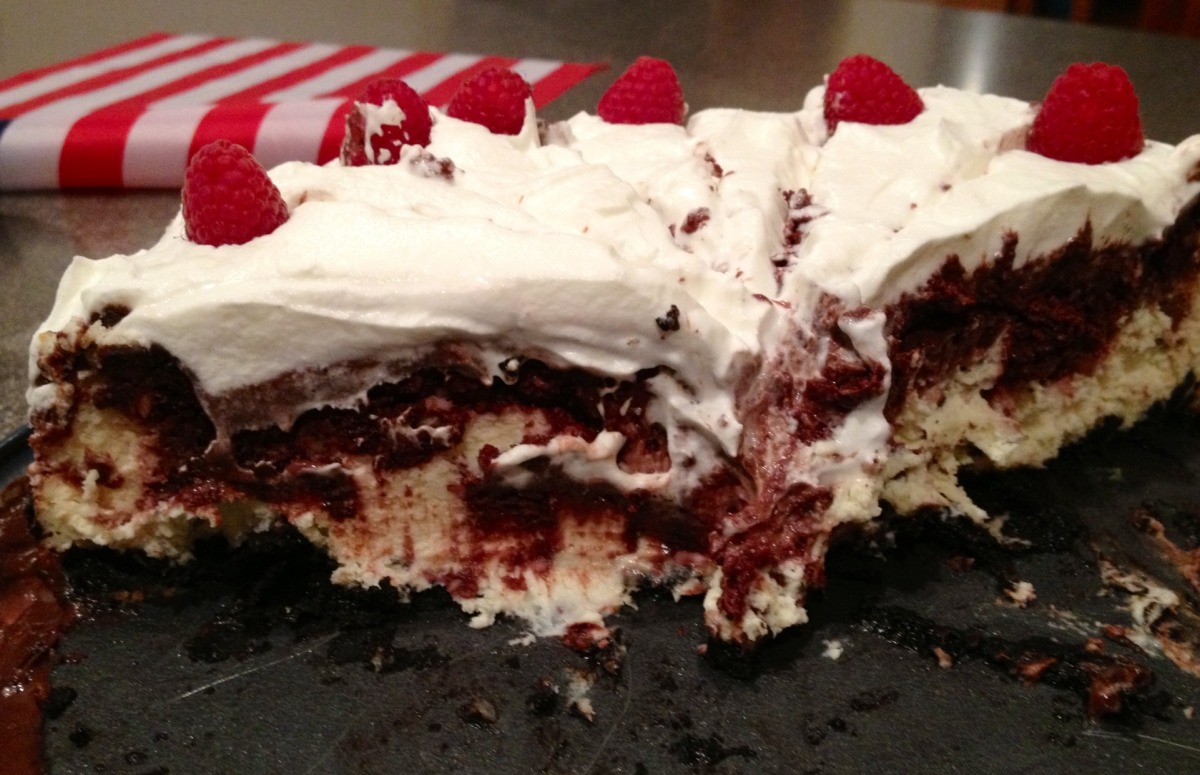 Chocolate Raspberry Truffle Cheesecake