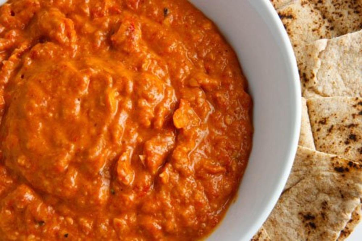 Healthy Mediterranean:roasted Red Pepper & Feta Dip #3 image
