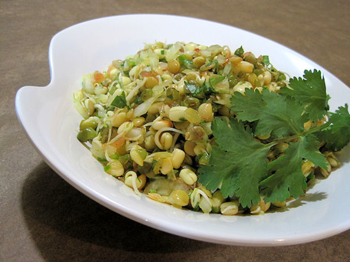 Sprouted Mung Bean Salad (Moong Salaad) image