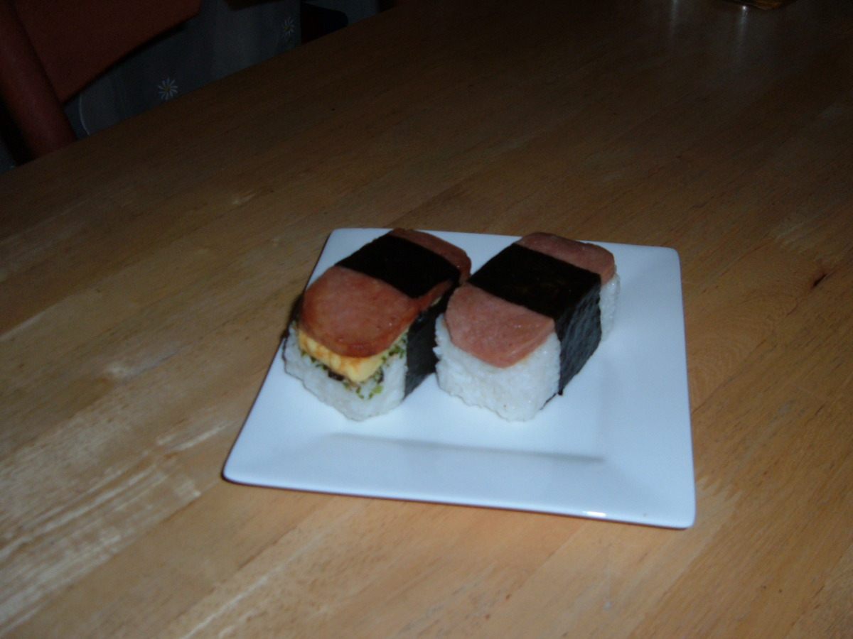 Nickey S Spam Musubi Recipe Food Com