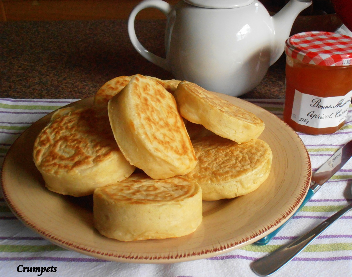 Old Fashioned Home-Made English Crumpets for Tea-Time image