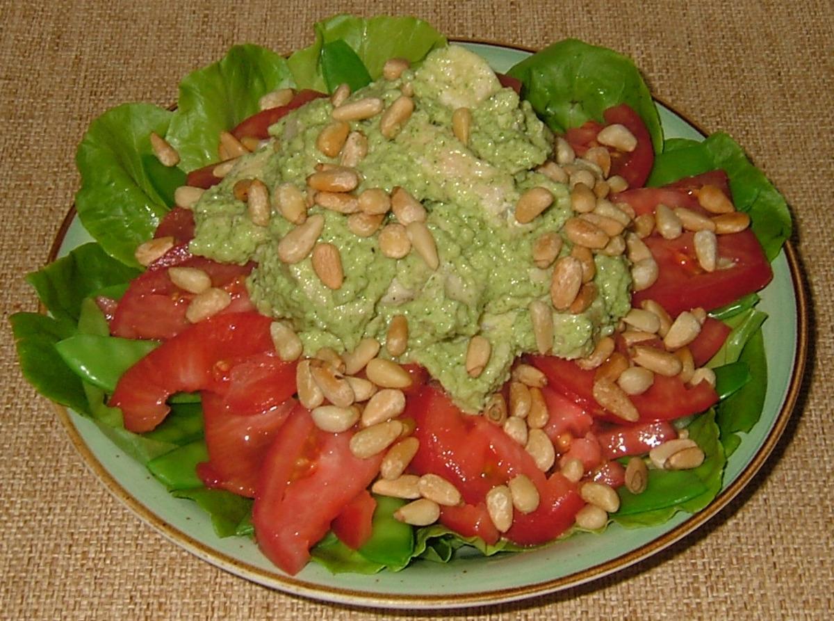 Parsley Pesto Chicken Salad With Pine Nuts image