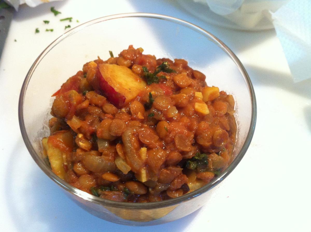 Lentil Potato Dal image